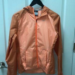Nike orange running jacket XS